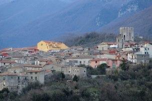 Veduta di Castello del Matese dal convento francescano di Santa Maria Occorrevole