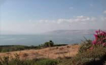 Dal monte delle Beatitudini la vista del Lago di Tiberiade