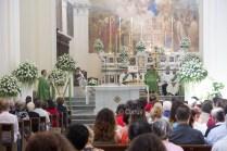 Durante la messa presieduta da don Alessandro, ha tenuto l'omelia Mons. Domenico La Cerra