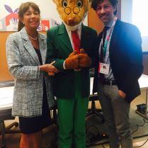 Michele Casella (a destra) all'evento Bologna Children's Book
