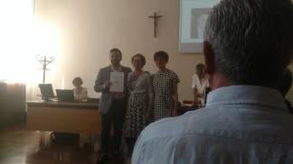 Nella foto Alfredo Ricigliano insieme alla signora Anna Francomacaro