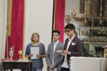 Lina, da catechista, con i ragazzi nel giorno della Cresima