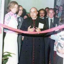 Momento civico: l'inaugurazione della prima palestra di Piedimonte Matese, lo Sporting Club PM di Netta Antonucci e Mario Capobianco (foto di M. Capobianco)