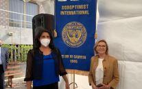 Il sindaco di Alife Maria Luisa Di Tommaso con Giulia Polverino di Soroptimist International Club di Caserta