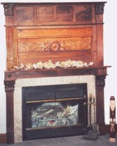 Mantel for Kansas farmhouse Walnut