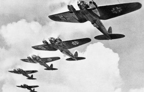 Aviones alemanes durante la Batalla de Inglaterra
