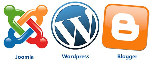 joomla vs wordpres vs blogger