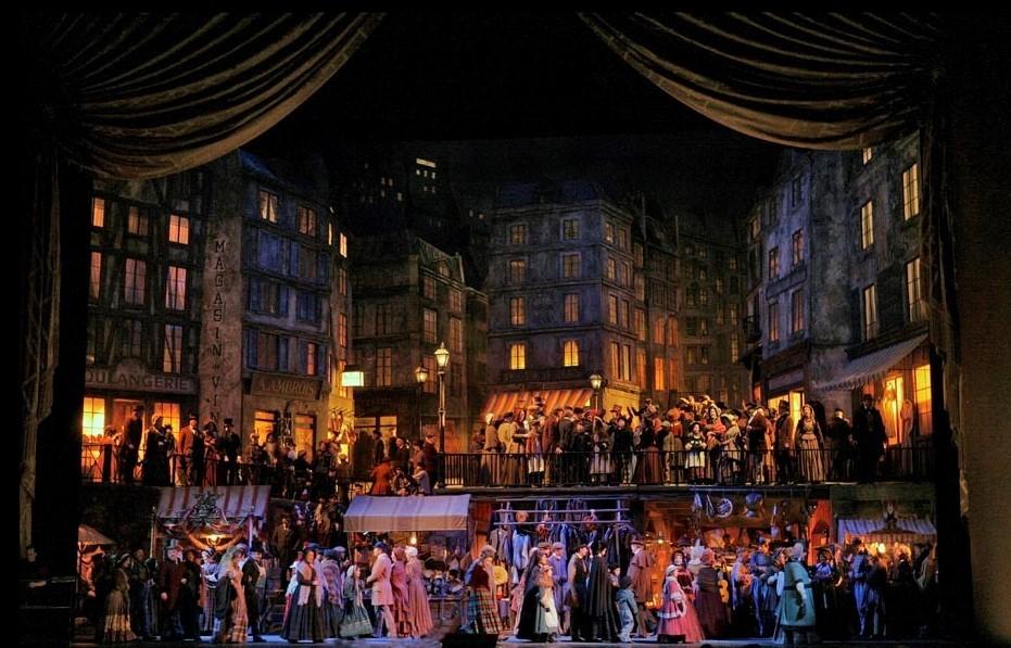 "A scene from Act II of Puccini's ""La Bohème."" Photo: Ken Howard/Metropolitan Opera"