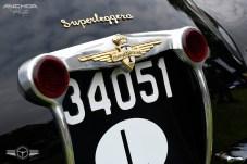 Detalle del Ferrari carrozado por Touring.