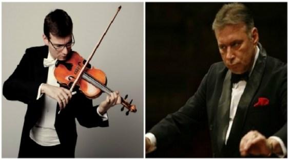 Violonistul Alexandru Tomescu şi dirijorul Mădălin Voicu, împreună în concert la Bucureşti
