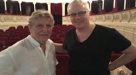 Tim Robbins a venit, la Teatrul Odeon, să-l întâlnească pe Andrei Şerban