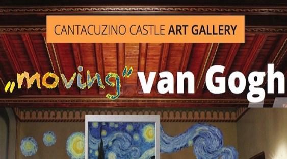 """Expoziţia interactivă """"Moving van Gogh"""" la Castelul Cantacuzino"""