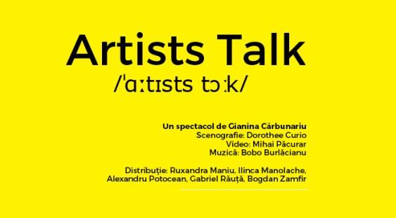 Artists Talk, pe scena de la ARCUB
