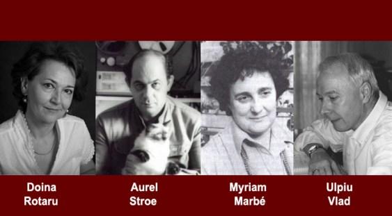 Mari compozitori români: Rotaru, Enescu, Marbe, Vlad