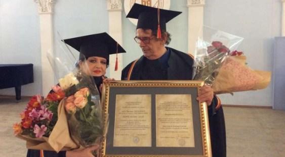 Mariana Nicolesco şi Radu Varia – Doctor Honoris Causa ai Academiei de Arte din Chişinău