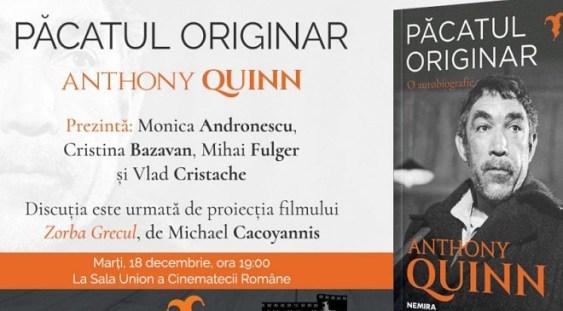 Lansarea autobiografiei lui Anthony Quinn și proiecția filmului Zorba Grecul