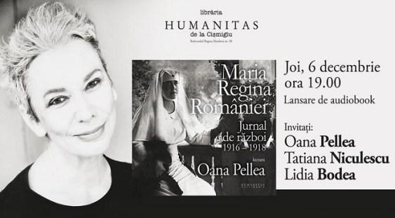 """Lansarea audiobook-ului """"Regina Maria. Jurnal de război"""""""