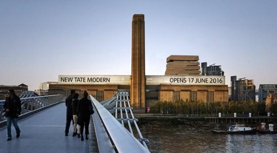Galeria Tate Modern este cea mai vizitată atracţie turistică britanică în 2018