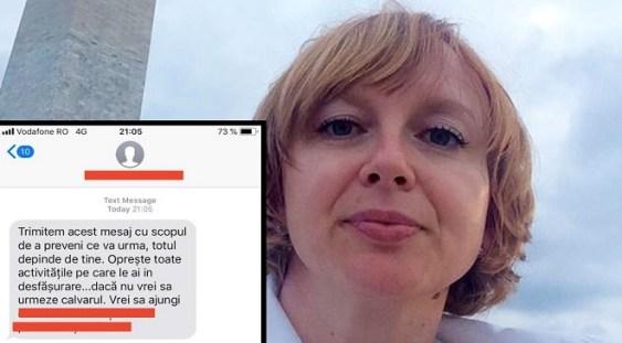 A fost prins bărbatul care a amenințat-o cu moartea pe jurnalista Emilia Șercan