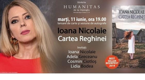 """""""Cartea Reghinei"""" de Ioana Nicolaie, lansată astăzi"""