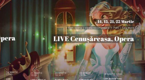 Opera Comică pentru Copii va transmite live online spectacolul Cenușăreasa