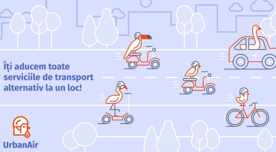 UrbanAir, aplicația care integrează toate soluțiile de mobilitate alternativă