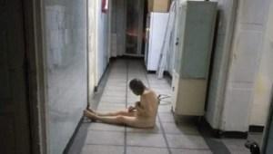 FOTO: Imagini de groază din Spitalul Reșița: pacienți ținuți goi pe holuri