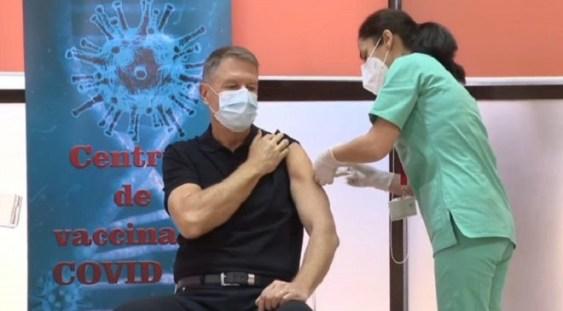 "LIVE | Klaus Iohannis s-a vaccinat anti-COVID, la Spitalul Militar ""Carol Davila"""