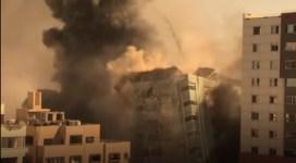 VIDEO | Israelul a distrus în Gaza o clădire unde aveau birouri AP și Al-Jazeera
