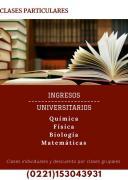 Clases particulares QUIMICA FISICA BIOLOGIA MATEMATICAS