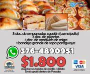 Entrada Empanadas Pizzetas Sandwich Cumpleaños Navidad $1800