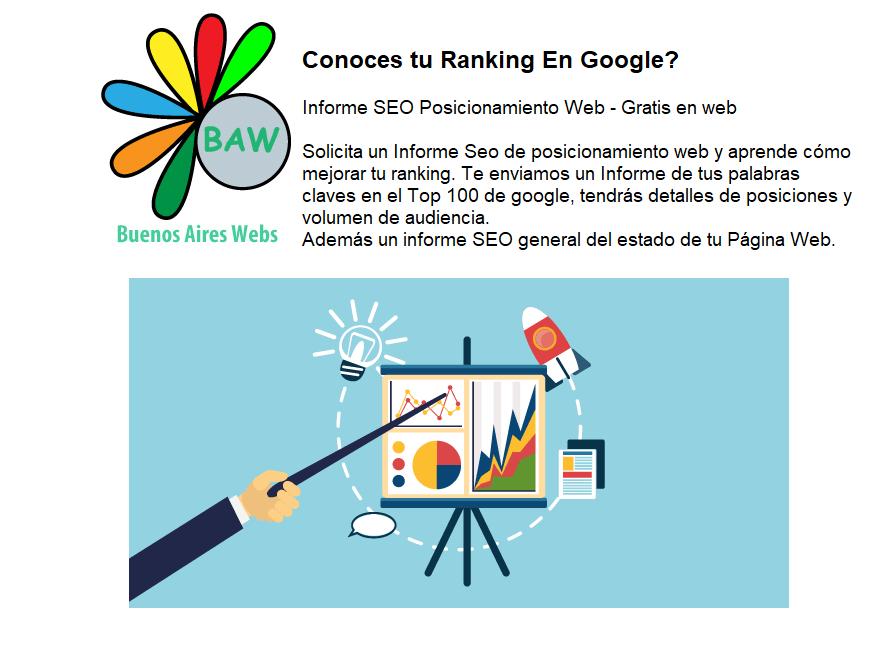 Conoce tu ranking en google