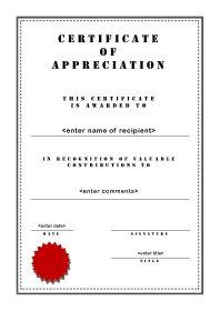 Certificates Of Appreciation 003