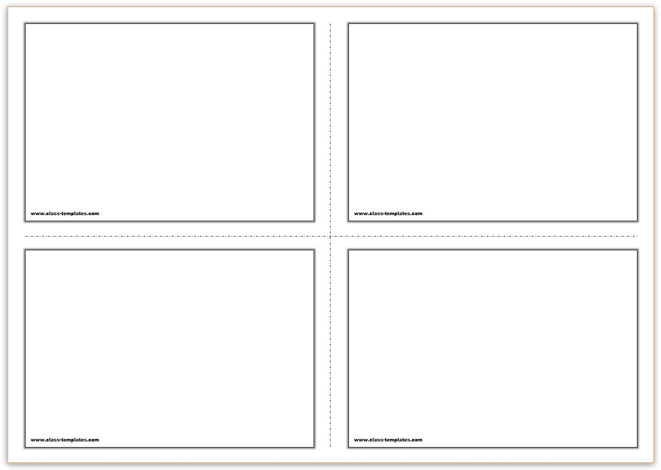 Free Printable Blank Cards | Infocard.co