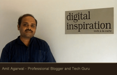 amit agarwal_top_blogger_classiblogger image