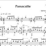S. Leopold Weiss, Passacaglia in D major