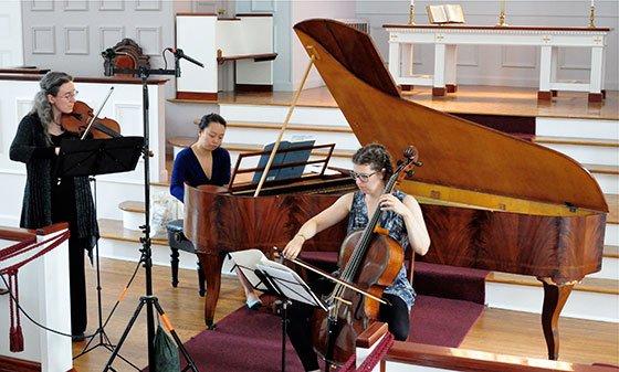 Davidbund Trio rehearses (Christopher Greenleaf photo)