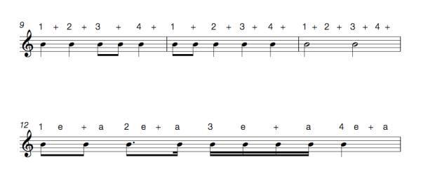 Subdividing rhythms