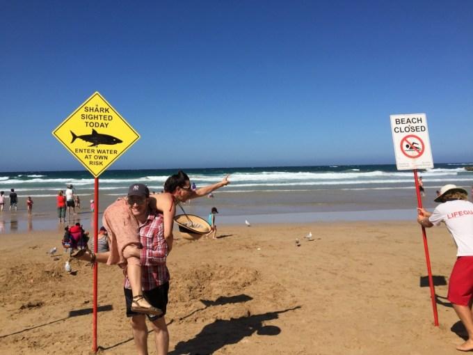 Australian classical guitarist narrowly avoids shark attack