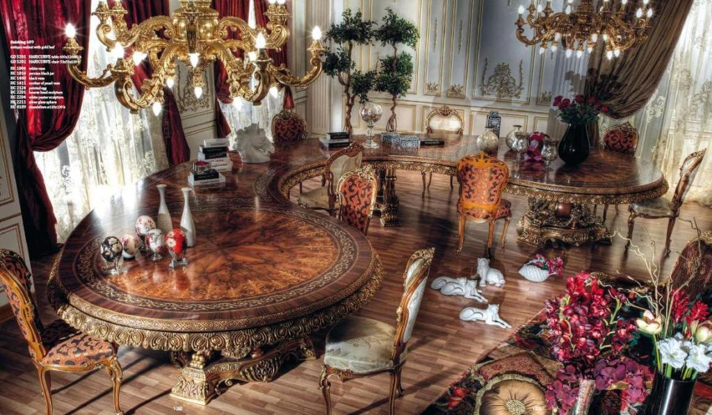 187 Italian Curved Dining Table In Baroque Styletop And Best