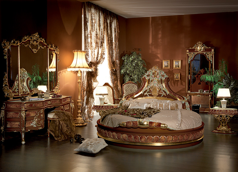 Italian Bed Room In Round ShapeTop And Best Italian