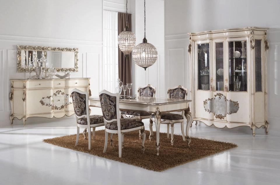 Silver Leaf Dining Room FurnitureTop And Best Italian