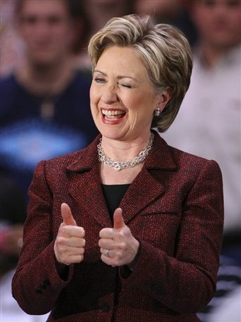 Image result for hillary winks