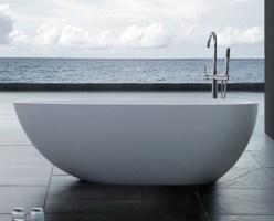 Freistehende Ei Form Design Badewanne aus Mineralguss ...