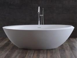 Freistehende Design Badewanne aus Mineralguss Tray Classic ...