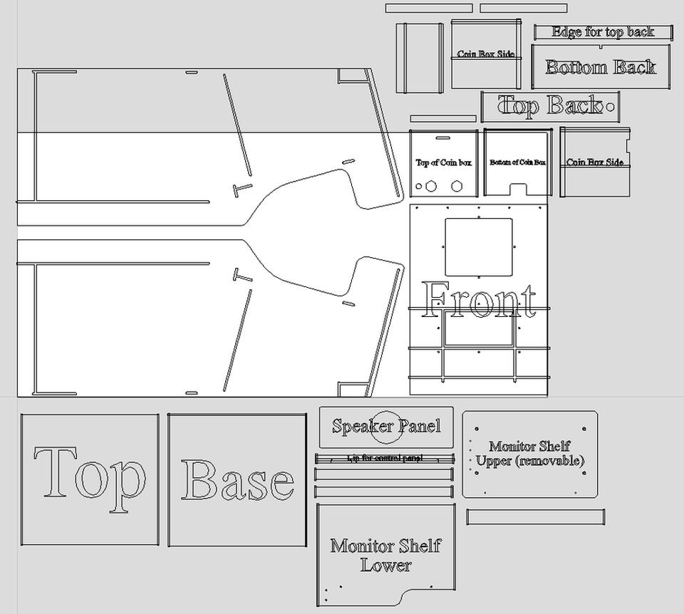 Robotron Build Plans Classic Arcade Cabinets