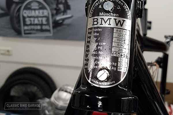 BMW R67/3 restauratie