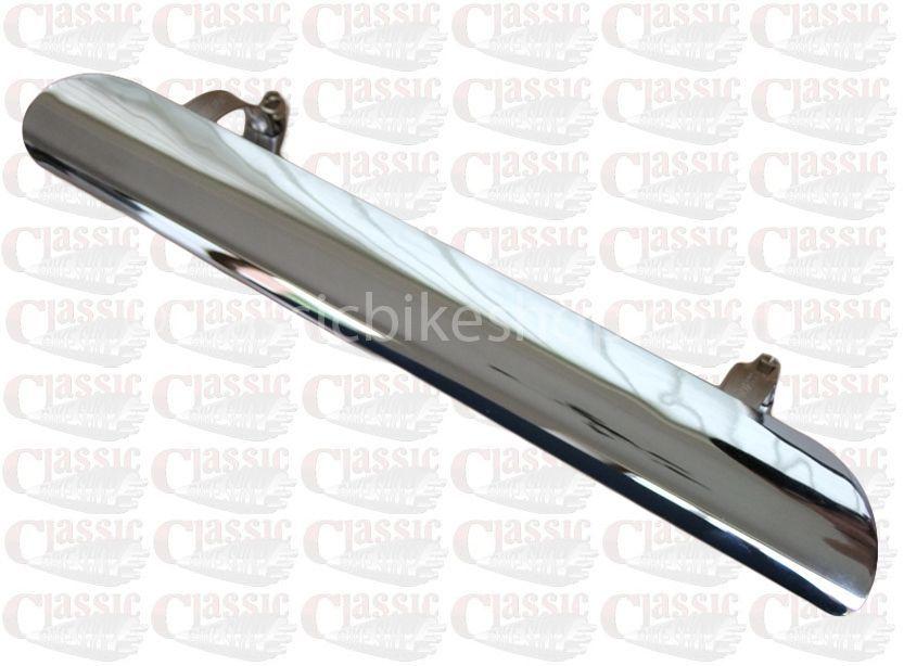 exhaust heat shield chrome 7 inch