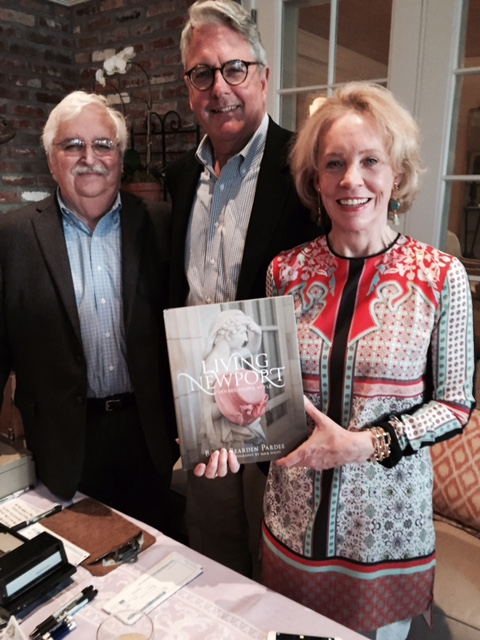 Jeff Jacobus, owner of Classic Bookshop; Jed Lyons, CEO National Book Network; Bette Pardee author Living Newport