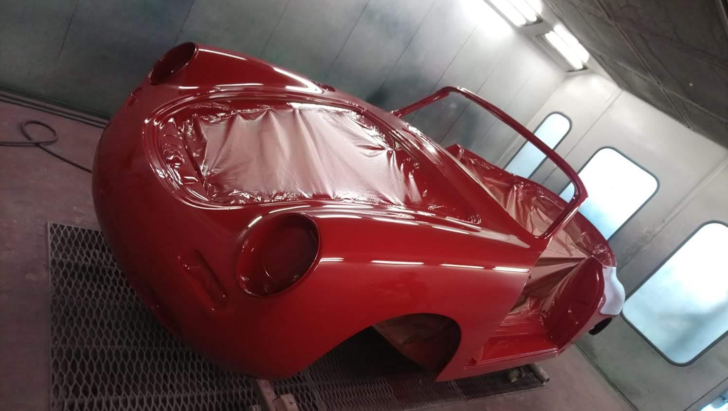 Porsche 356 C Cabrio in Rubinrot